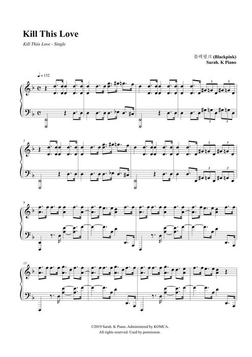 BLACKPINK (블랙핑크) - Kill This Love by Sarah.K Piano