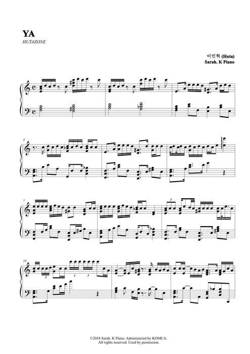이민혁 (HUTA) - Ya by Sarah.K Piano