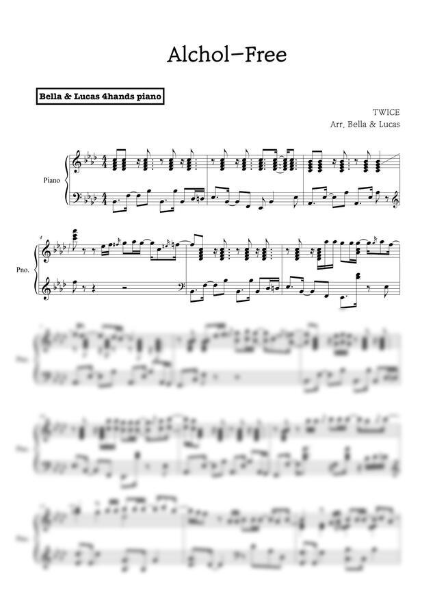 TWICE (트와이스) - Alcohol-Free (PIANO SOLO) by 벨라 앤 루카스