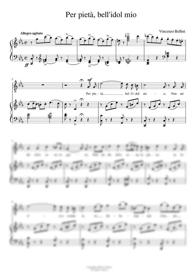 V.Bellini - per pieta, bell'idol mio (Cmin) by noten(노튼)