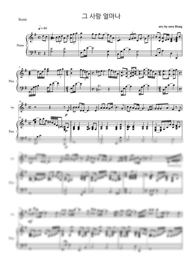 설경욱 - 그 사랑 얼마나 (바이올린,피아노) by 홍소라