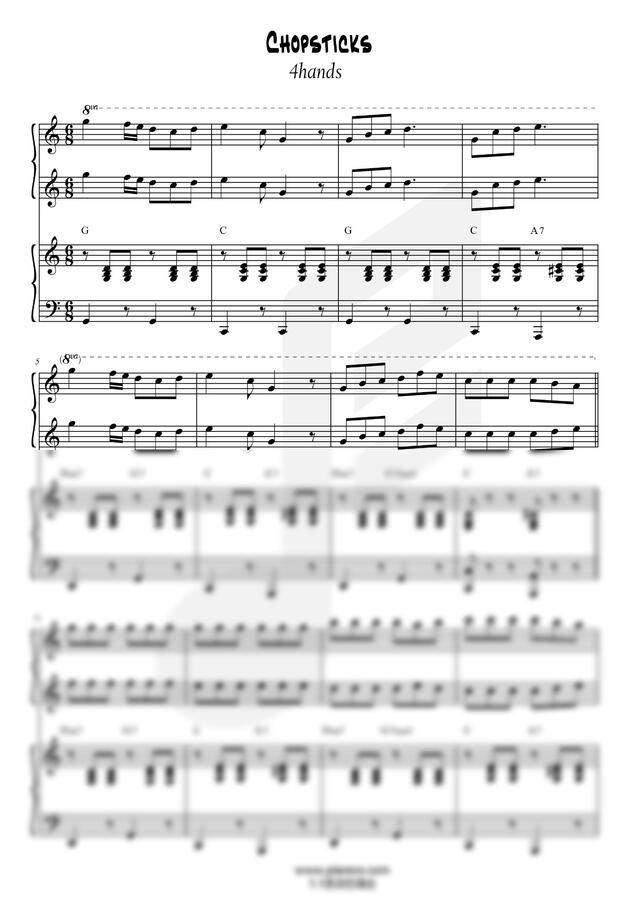 E. Allen (앨런) - 젓가락행진곡 (4hands) by 차차프렌즈