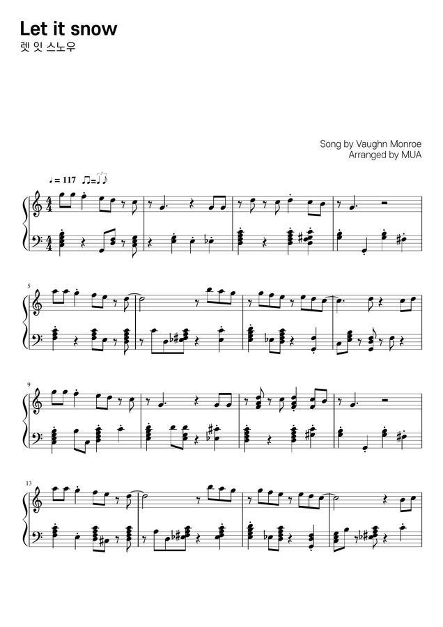 Vaughn Monroe - Let It Snow (쉬운 스윙 재즈) by MUA