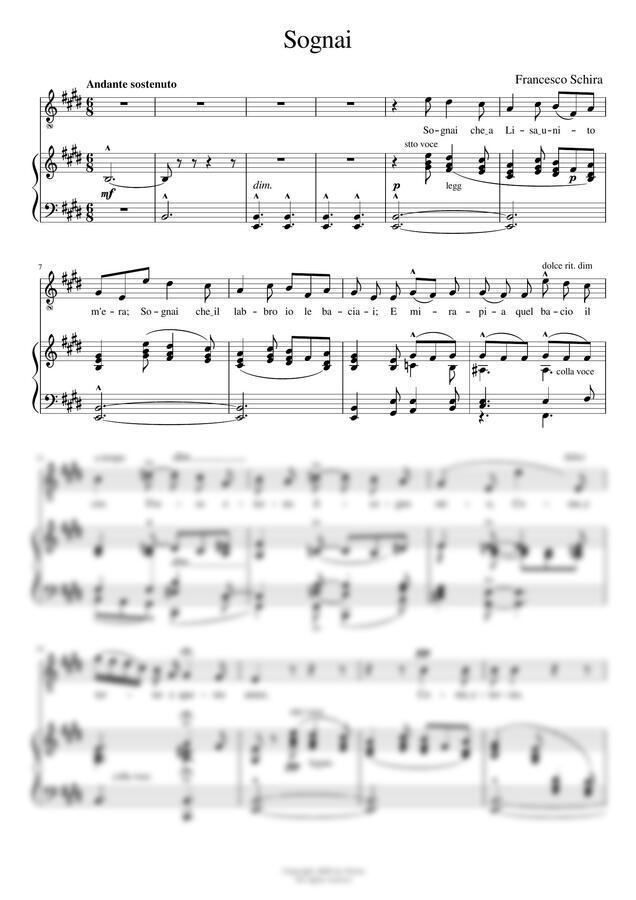 F.Schira - Sognai (Emaj) by noten(노튼)