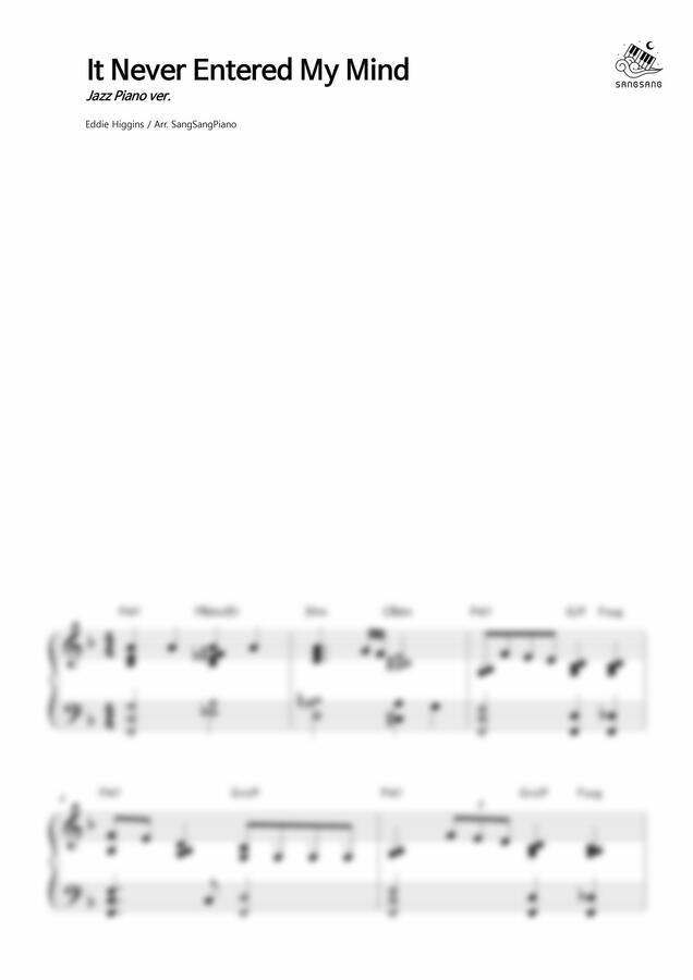 Eddie Higgins - It Never Entered My Mind (재즈 연주곡) by 상상피아노